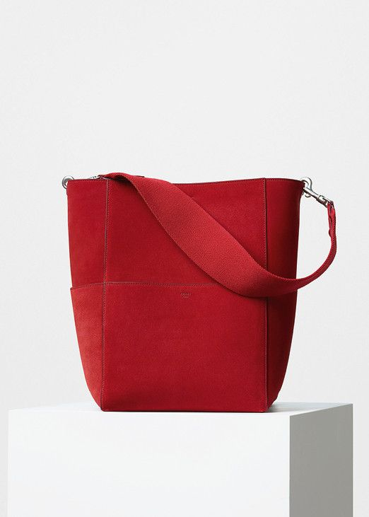 00f20bab3182 Seau Sangle Shoulder Bag with Double Stitching in Calfskin - セリーヌについて