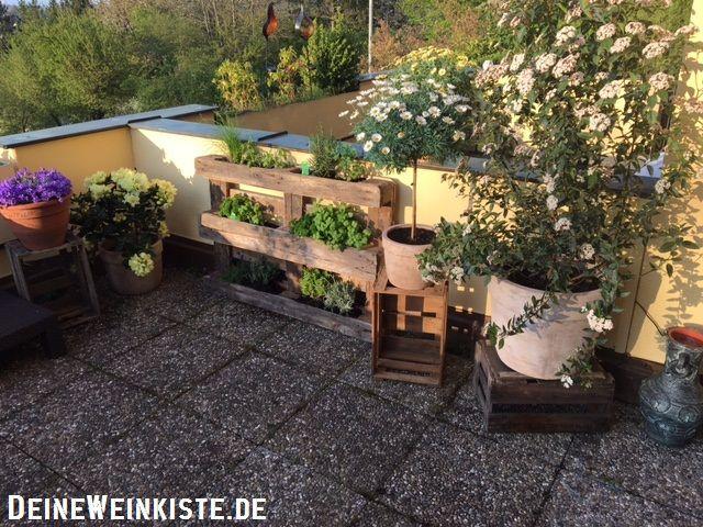 Weinkisten Stuttgart 18 04 2017 stephan aus stuttgart balkon deko mit weinkisten