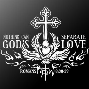 Separate love window sticker christian windowstickers for Not of this world tattoo