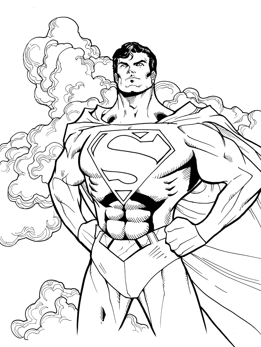 Superman cool coloring pages superman coloring for Super man coloring page