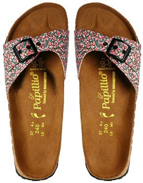 cd43389863e Enlarge Papillio by Birkenstock Madrid Liberty Pepper Red Floral Flat  Sandals