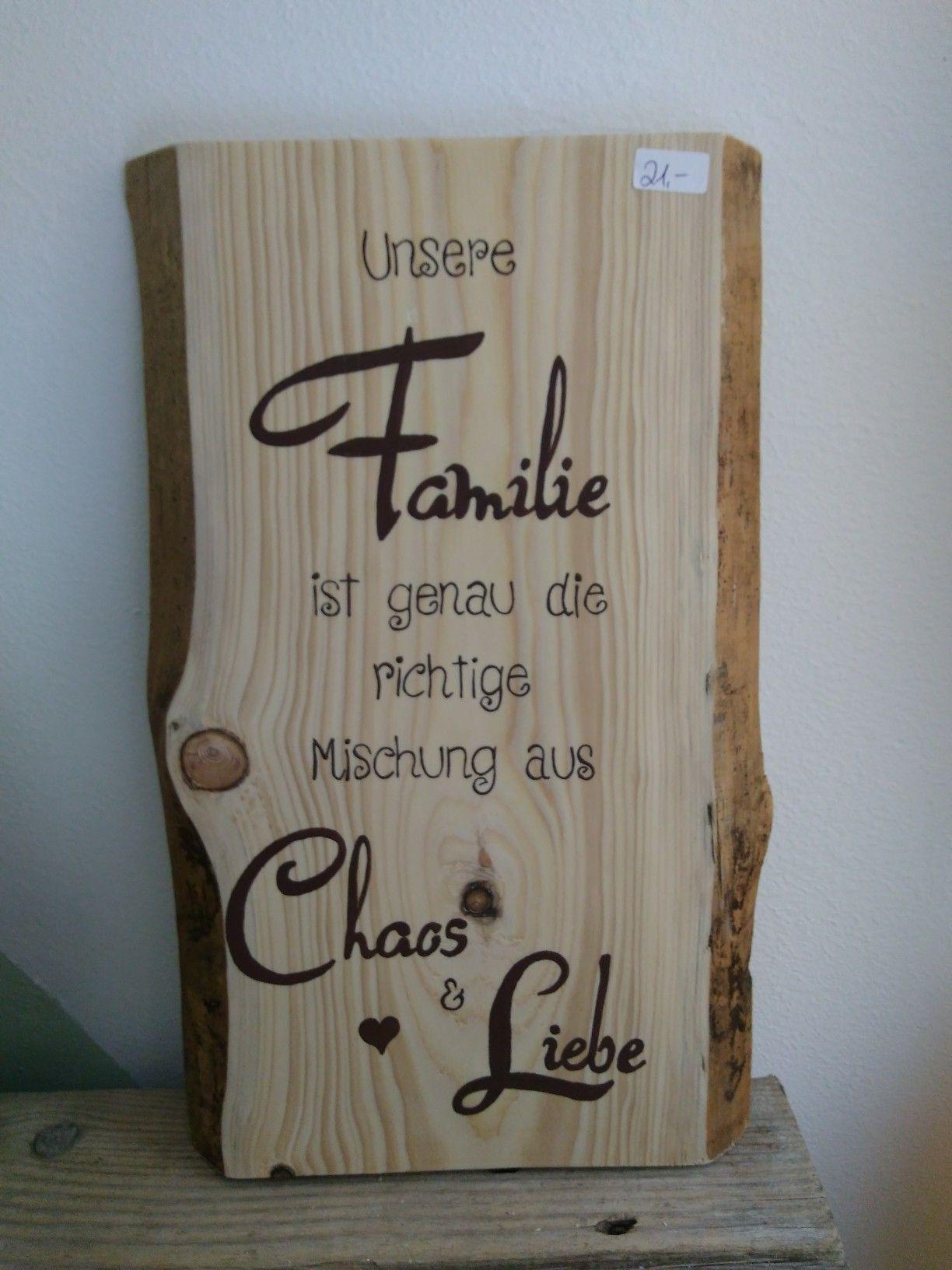 Holz Geschenk Spruch Familie Beschriftet Geburtstag #holzscheibendeko