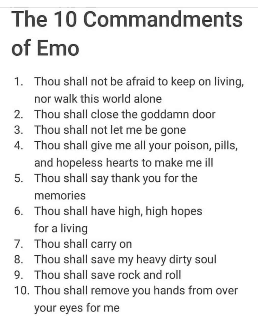 If you understand these and aren't emo you have power. I am most powerful being