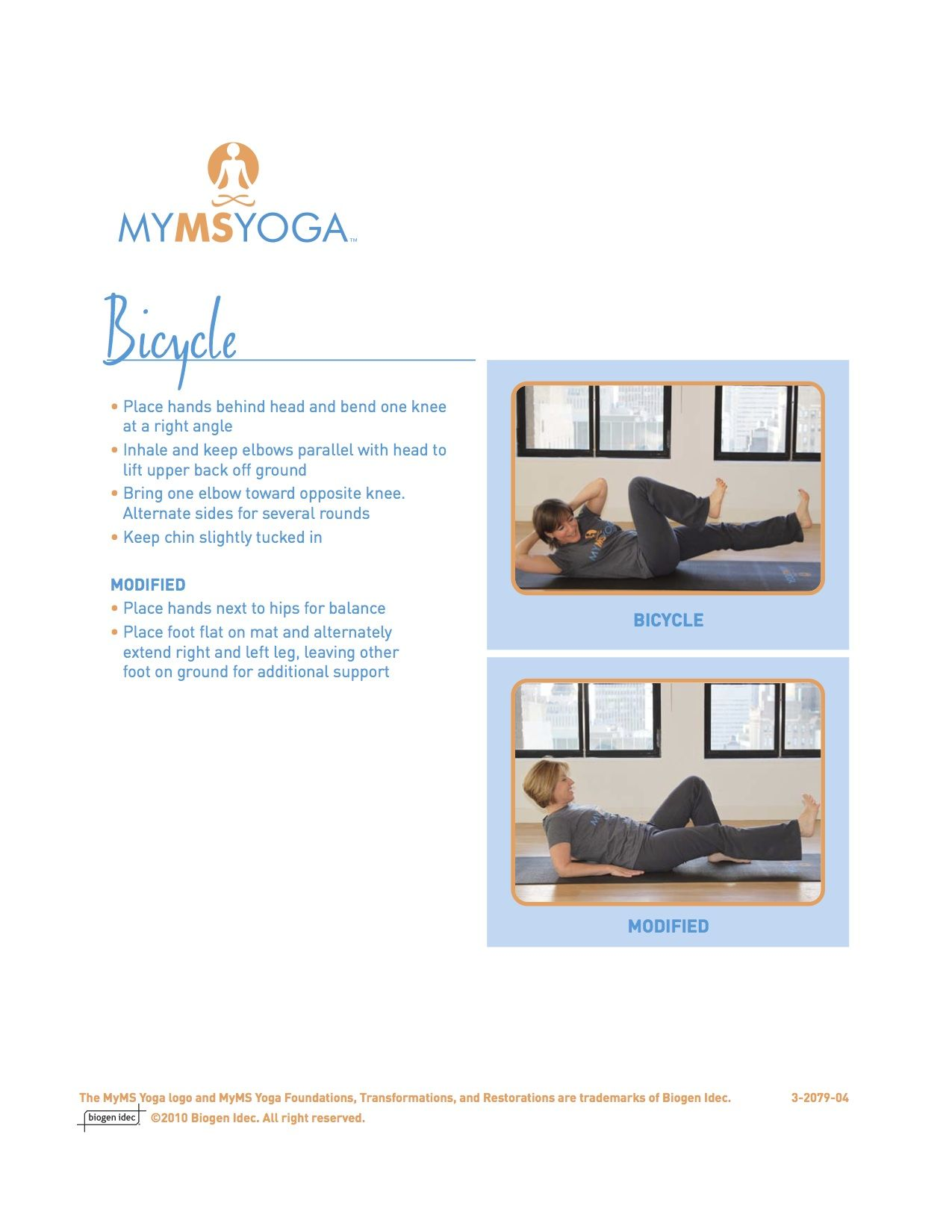 Bicycle Yoga Pose For People With Multiple Sclerosis Yoga Poses Yoga Lifestyle Multiple Sclerosis