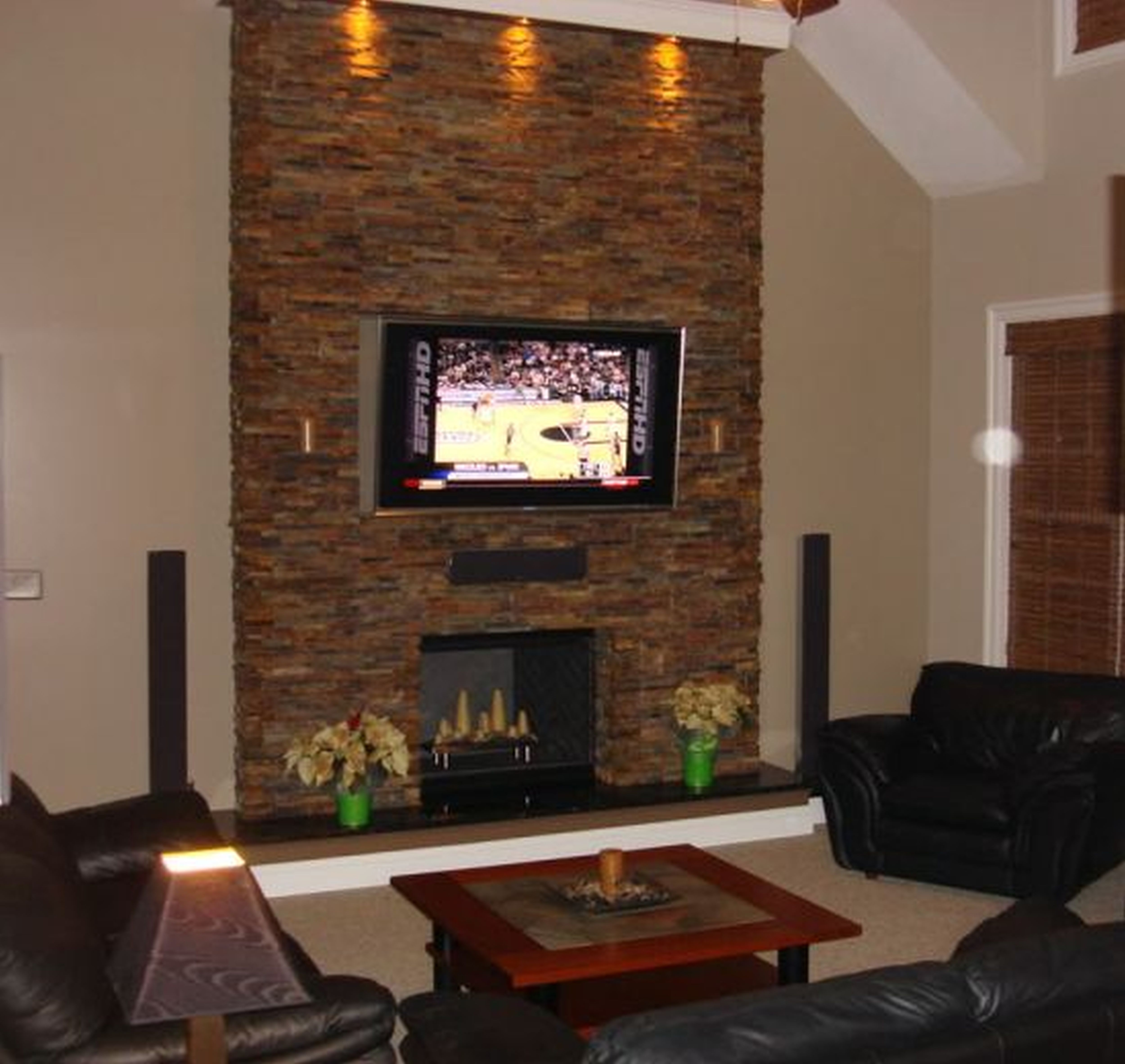 fireplaces and inc builders dry envira hearth with corner stacked stone sienna stack gas fireplace raised harlow
