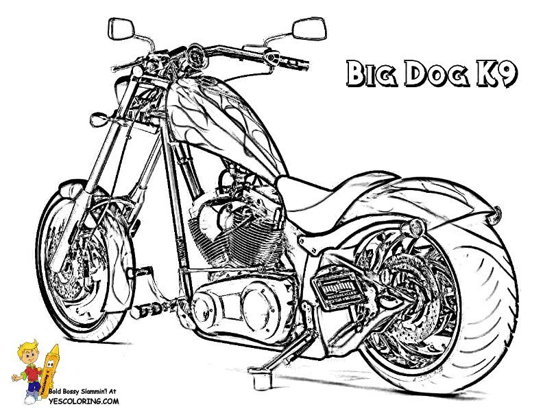Print Out This Big Dog Motorcycle Coloring Page I Can T Take It You Can Handle It Slide Crauon M Cars Coloring Pages Coloring Pages Cool Coloring Pages