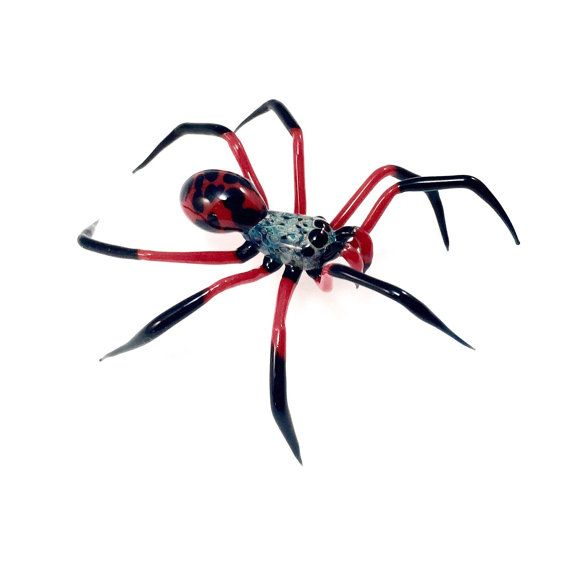 Fire Spider Glass Sculpture