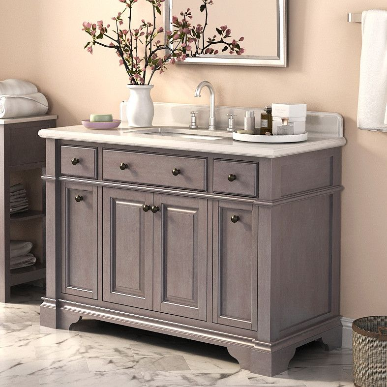 48 Inch Bathroom Vanity With Top And Sink  This amazing photo collections about is accessible to save Lanza Casanova Single with Backsplash Reviews