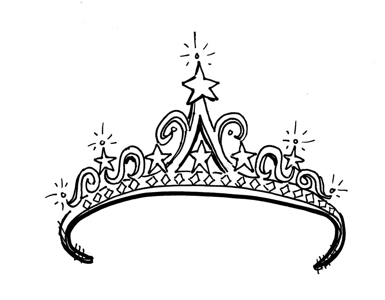 Princess Tiara Coloring Sheet Clipart Best Crown Clip Art