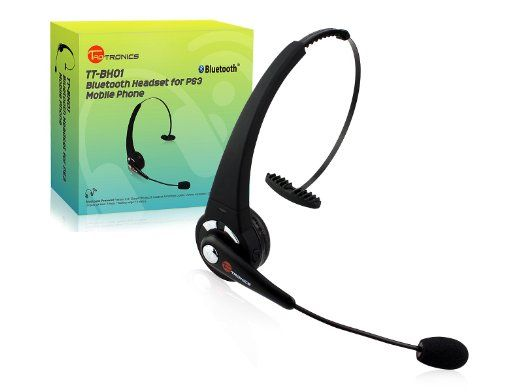 Amazon Com Taotronics Tt Bh01 Black Rechargeable Wireless Over The Head Bluetooth Headset With Microphone Featu Headset Bluetooth Headset Headphone With Mic