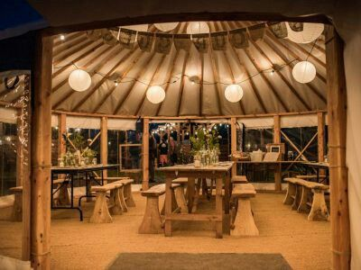 Wedding Yurt at Fron Farm Yurt Retreat. A unique and unusual wedding venue in West Wales.
