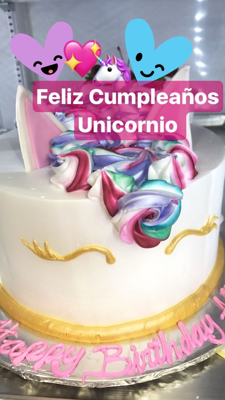 UNICORN CAKE from EL BOLILLO BAKERY in HOUSTON TX unicorn
