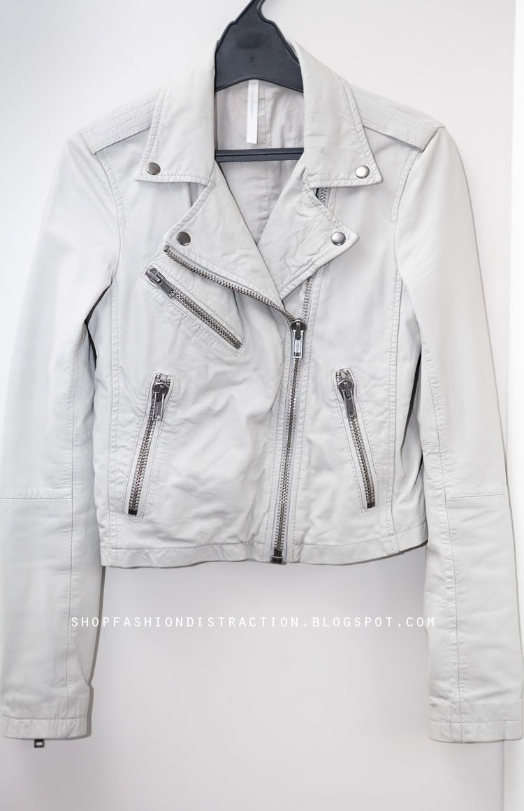 topshop white leather jacket - Google Search | Wish List ...