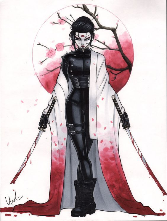 Failed Mad Scientist Iiiii Geisha Drawing Female Samurai