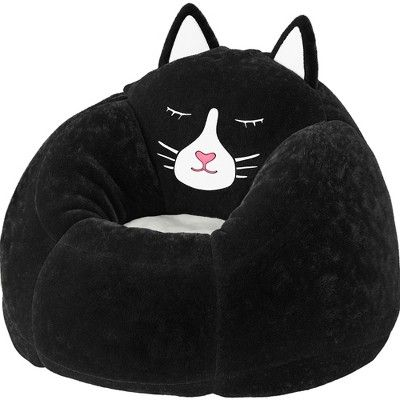 Enjoyable Character Bean Bag Chair Black Cat Pillowfort Black Ocoug Best Dining Table And Chair Ideas Images Ocougorg