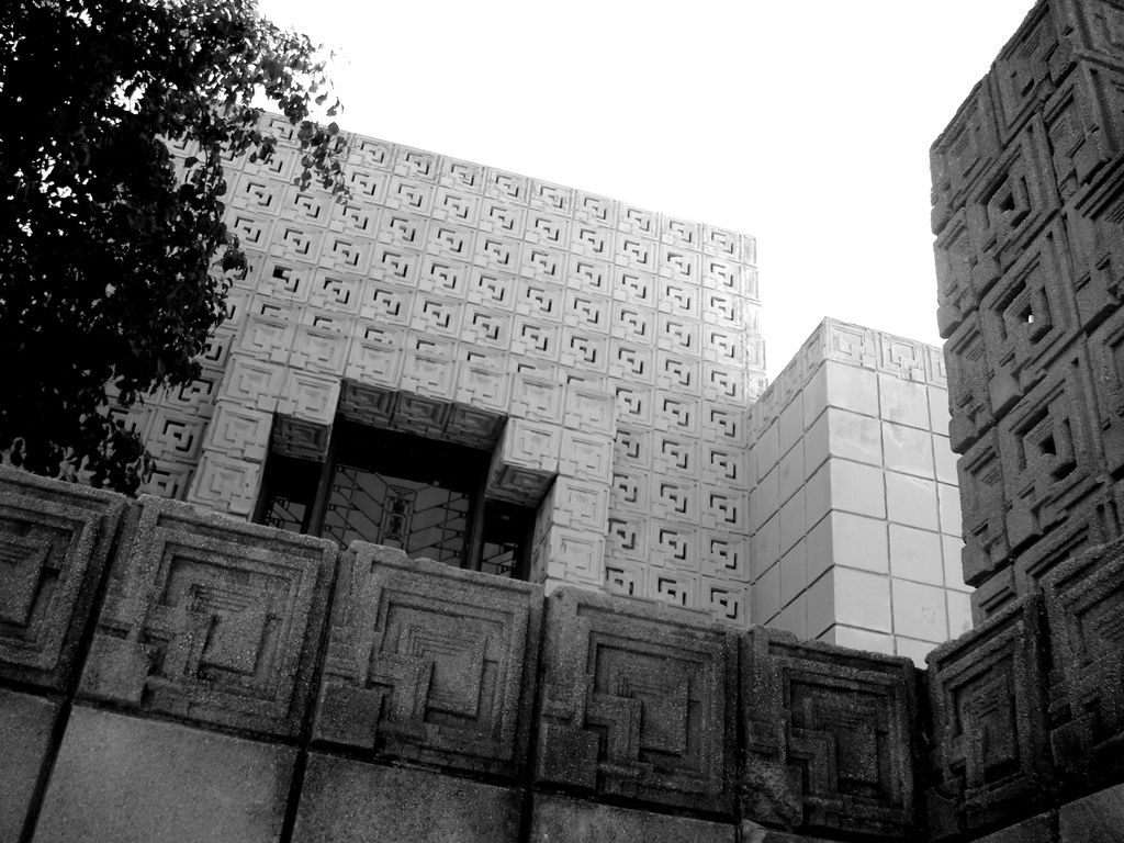 Charles Ennis House. 1924. Los Angeles, California. Textile Block Period. Frank Lloyd Wright