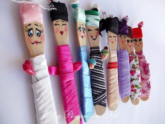 ! Pesquei na net : Pintura de carinhas na pazinha de sorvete para organizar suas fitinhas