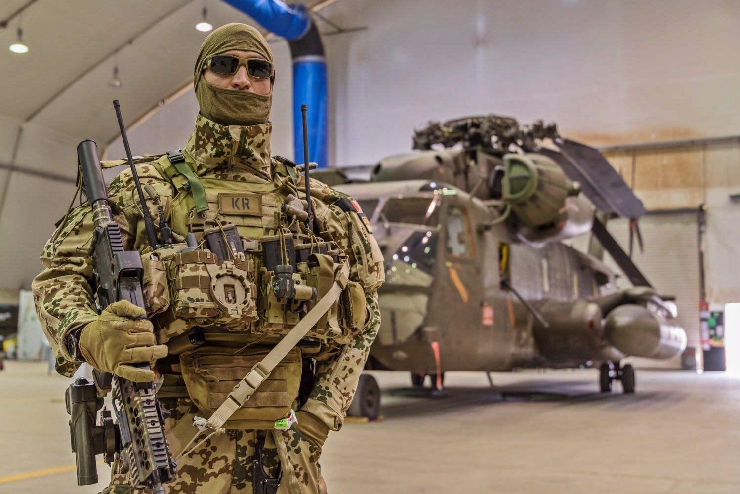 A German Air Force Pararescueman (Kampfretter) pictured in