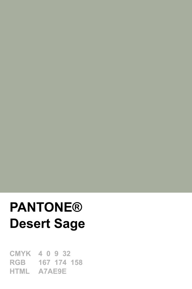 Pantone 2015 Desert Sage Couleur Pantone Pantone Et Vert Pantone