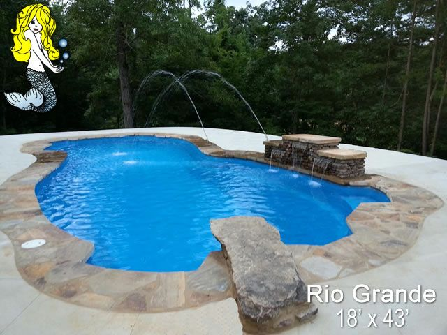 Give The Family A Gift That Will Bring Fun For Years To Come With A Tallman Fiberglass Pool Swimmin Fiberglass Swimming Pools Pool Water Features Backyard Pool