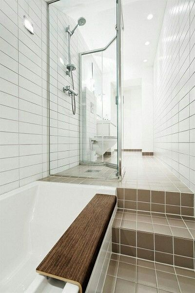 Straight Set Tile In The Bathroom With Images Bathroom Tile