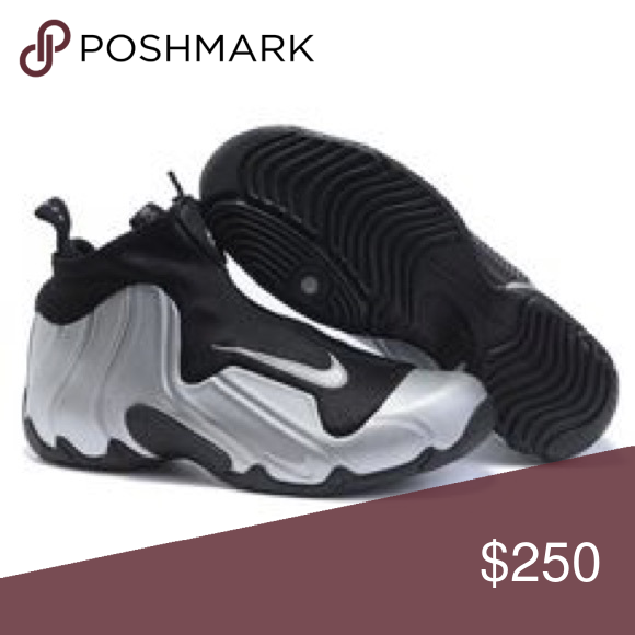 d3bbc1f515c9 Nike Flight Posite s Black and Silver size 13 New never worn Nike Shoes  Athletic Shoes