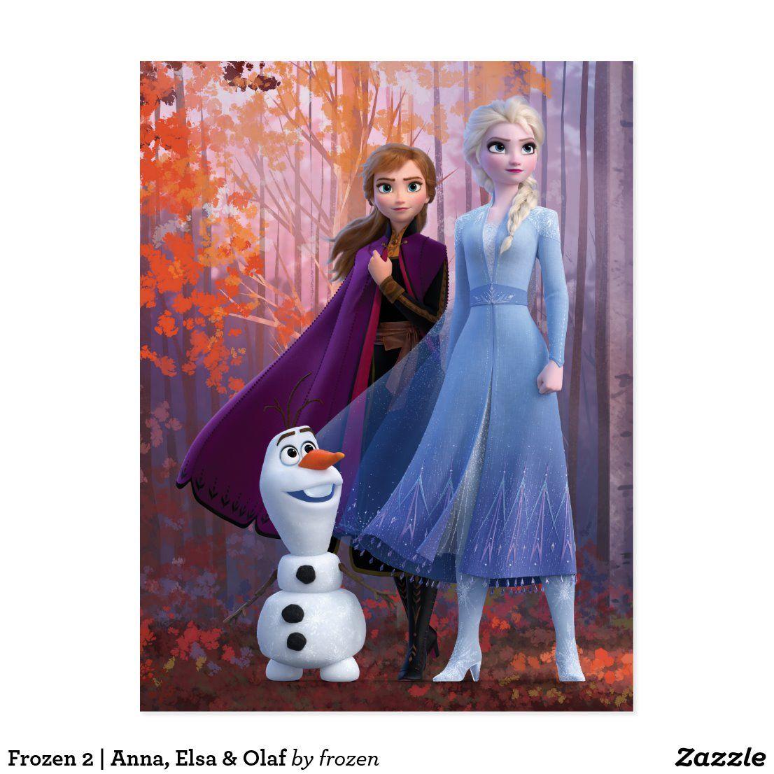 Frozen 2 Anna, Elsa & Olaf Postcard