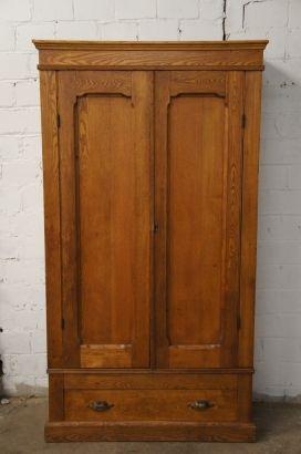 Early American Solid Oak Knockdown Armoire Primitive Antique Wardrobe Cabinet Antique Wardrobe Primitive Decorating Country Primitive Decorating