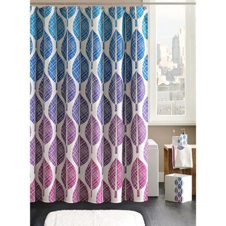Home Essence Central Park Shower Curtain With Hooks Walmart Com