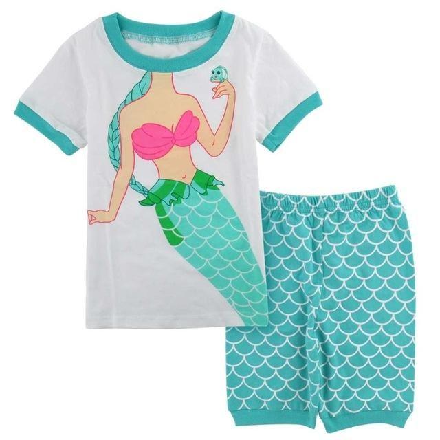 20fbb91b8f05 Children Girls Cartoon Mermaid Nightwear Pajamas Sleepwear New Year Kids  Animal Cosplay Toddler Long Sleeve Pyjamas