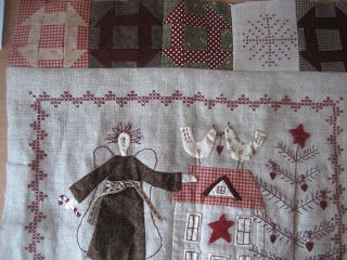 embroidery; Scandinavian Christmas, could be a cute pillow