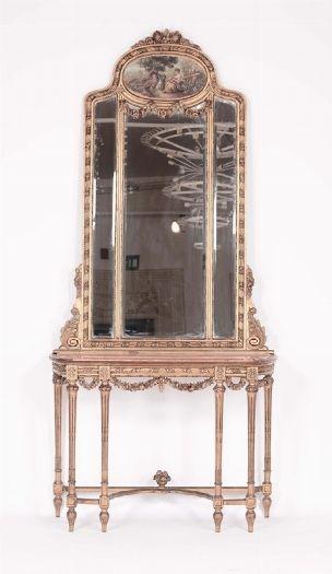 Salotto in stile Luigi XVI in legno intagliato e dorato | salon ...