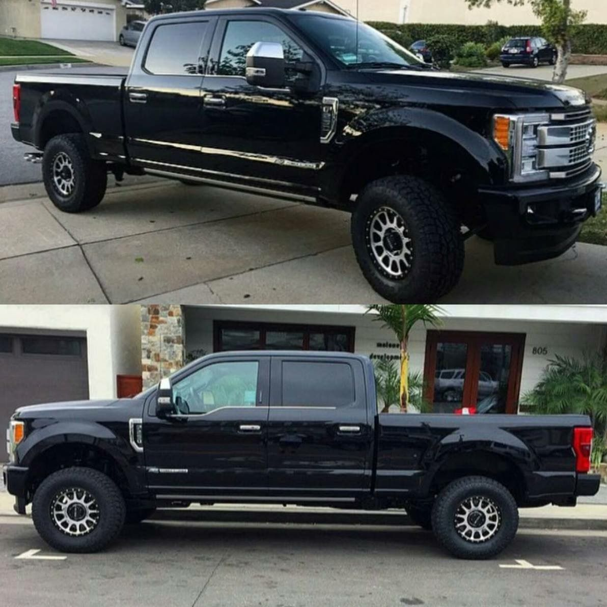 2017 ford super duty lifted with method wheels [ 1192 x 1192 Pixel ]