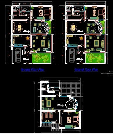 Modern Two Story House Ground And First Floor Plans Architectural Floor Plans Floor Plans Two Story Homes