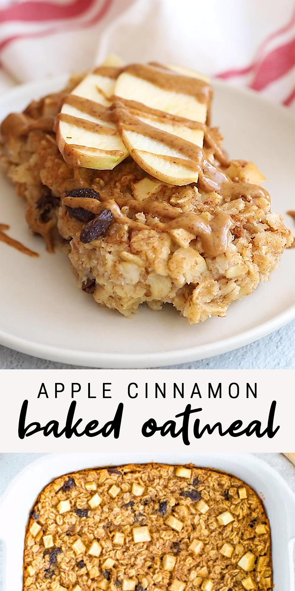 Photo of Apple Cinnamon Baked Oatmeal