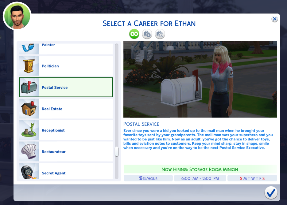Mod The Sims Postal Service Career Sims 4 Jobs Sims 4 Sims 4 Mods