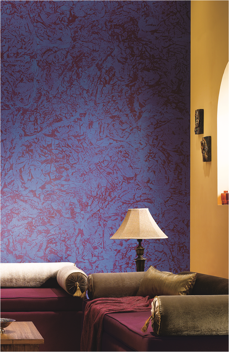Dive Deep In The Spontaneous Waves Of Purple Painting Textured Walls Asian Paints Wall Designs Wall Colour Texture