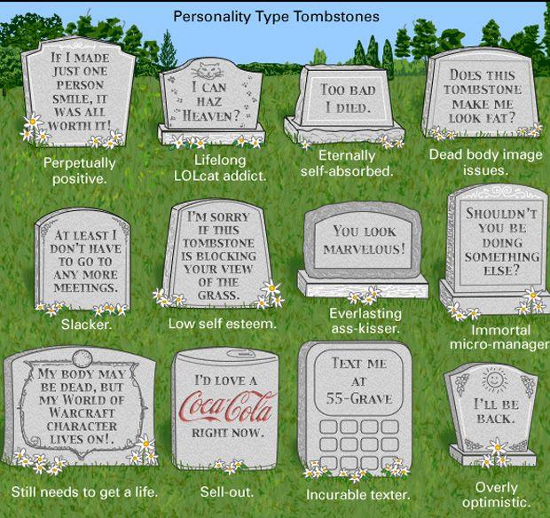 personality type tombstones.