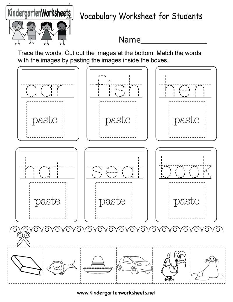 medium resolution of Vocabulary Worksheet for Students - Free Kindergarten English Worksheet    Vocabulary worksheets
