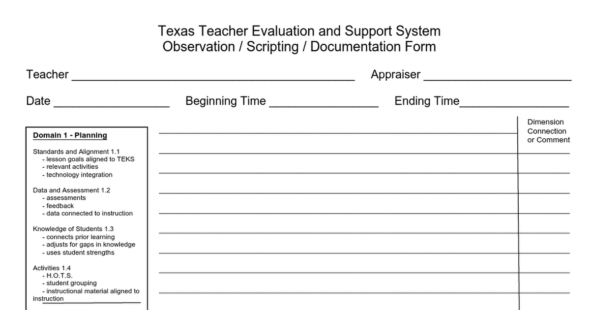 image regarding T-tess Rubric Printable referred to as Documentation Sort (up-to-date May well 16).docx T-TESS T tess