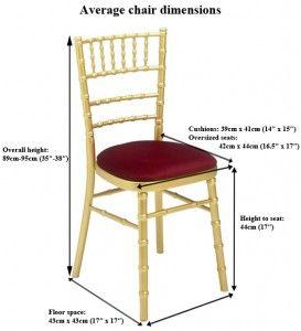 Chivari Banquet Chair Dimensions