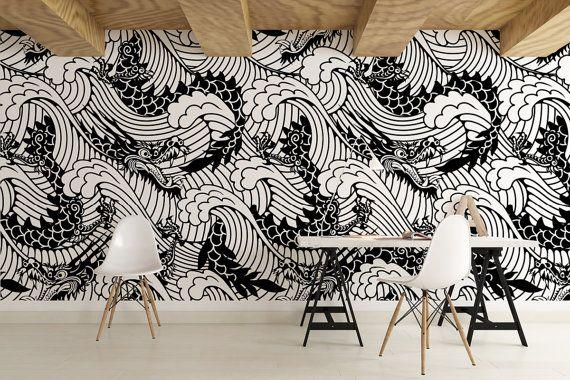 Japanese Self Adhesive Wallpaper Removable Wallpaper Etsy In 2021 Japanese Wall Decor Removable Wallpaper Wallpaper Walls Decor