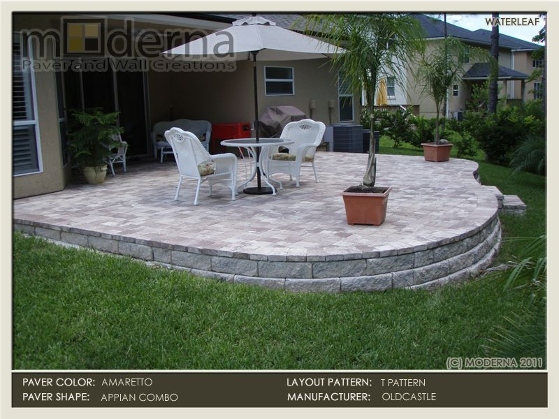 how to build a paver patio on a slope Google Search Yard