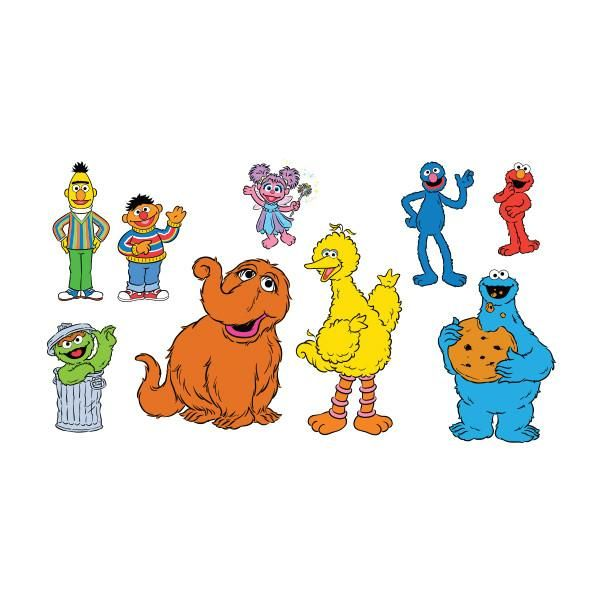 The Sesame Street Character Set Features Iconic Artwork Of