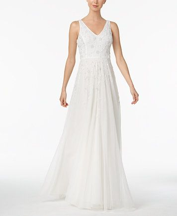 Adrianna Papell Beaded A Line Gown Macyscom Wedding Pinterest