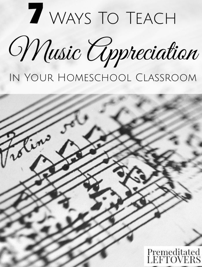 7 Ways to Teach Music Appreciation in Your Homeschool Classroom ...