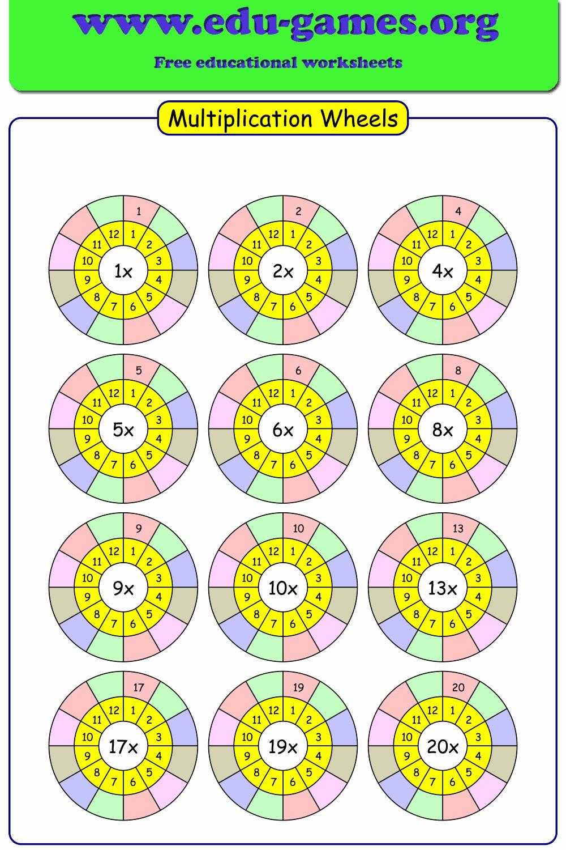 Multiplication wheels in 2020 Multiplication wheel