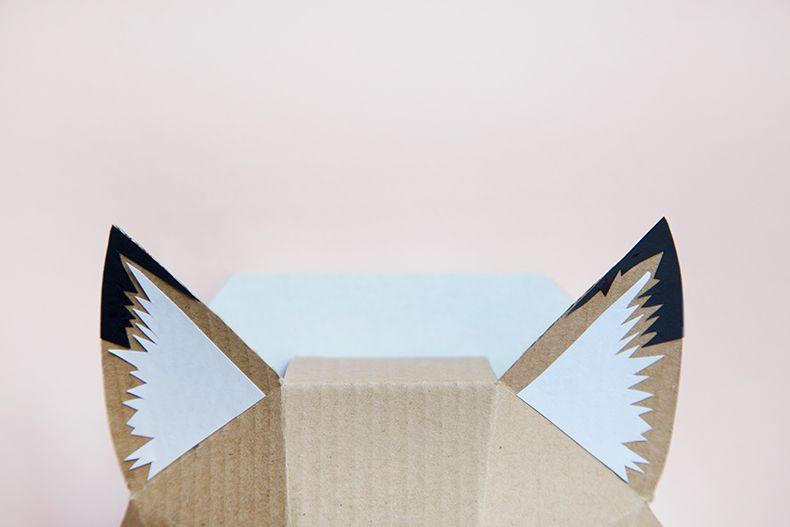 Trophée Renardeau _ Mamie Boude _ DIY adorable renard en carton