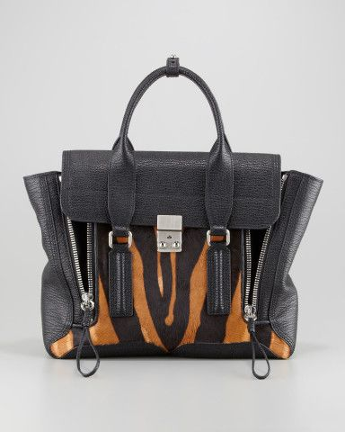 3.1 Phillip Lim Pashli Medium Tiger-Print Satchel Bag