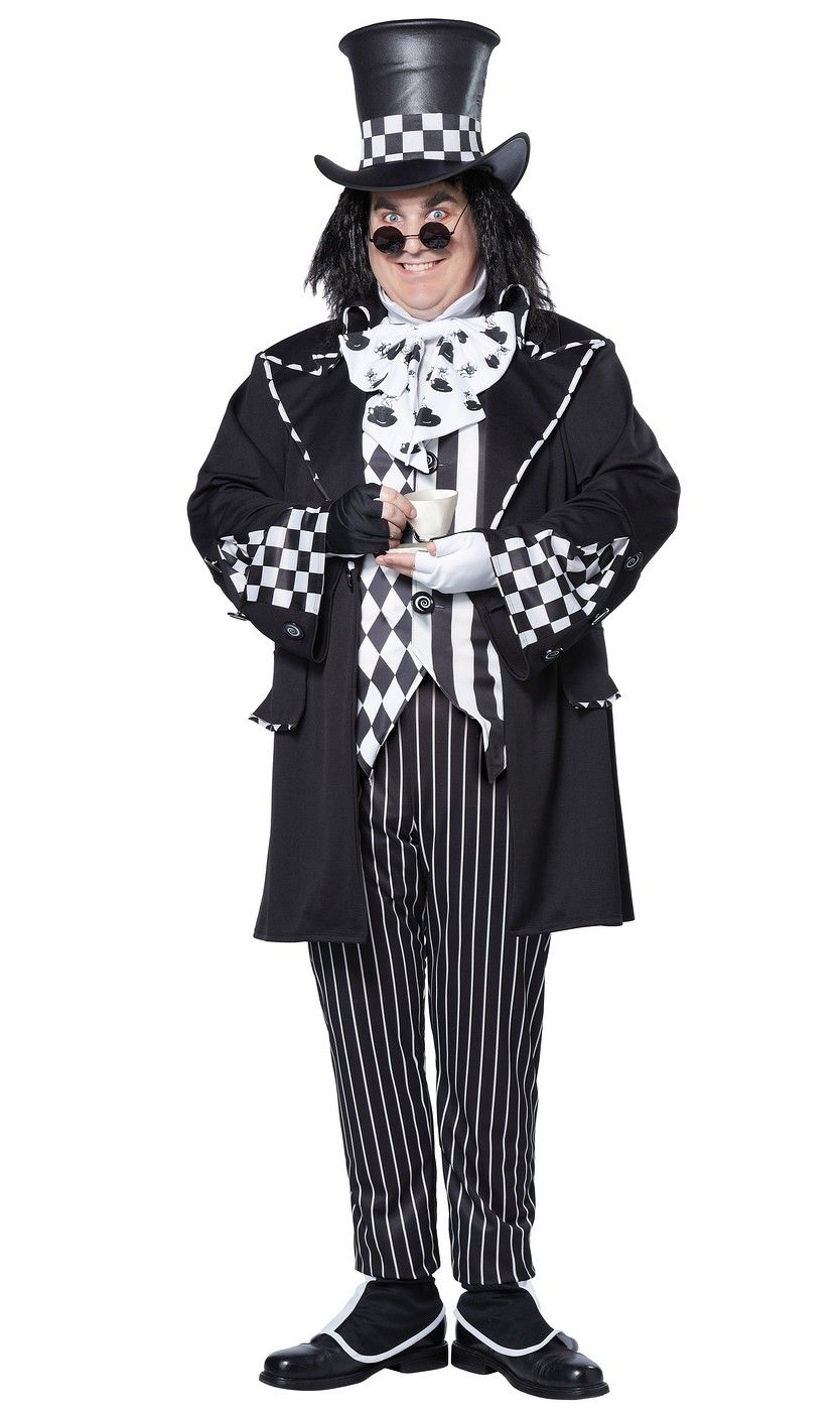 Plus Dark Mad Hatter Costume Plus Size Halloween